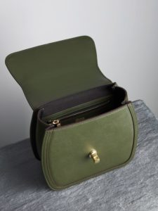 Grace green leather top handle bag – Illicia