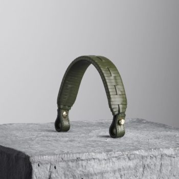Kale Green Woven Leather Top Handle - Illicia