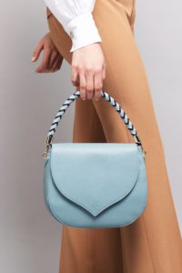 Celina  Niagara shoulder handbag with arctic and azure woven handle, Illicia